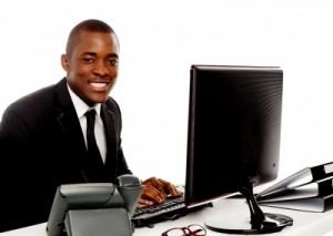 Businessman at Computer